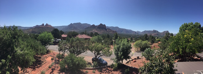 View from the roof of my casita