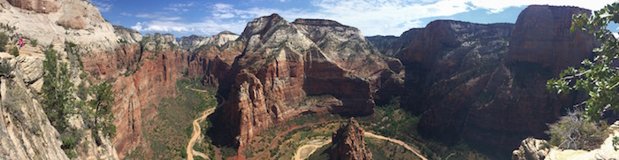 Epic Zion National Park from the peak of Angel's Landing